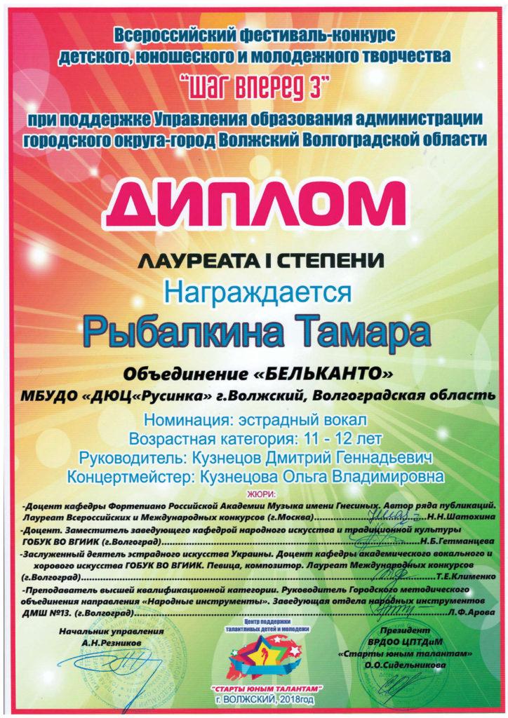 Рыбалкина Тамара Эстрада