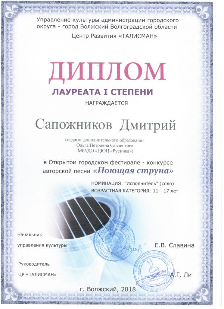 Сапожников Д.